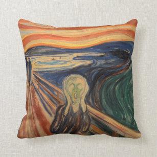 Coussin Edvard Munch iconique la peinture de cri perçant