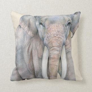 Coussin Éléphant asiatique Taureau