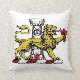 Coussin Emblème C de Tower Fleur de Lis Crest de lion