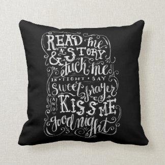 Coussin Embrassez-moi bonne nuit