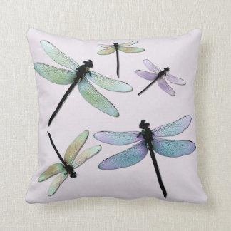 Coussin en pastel de libellules