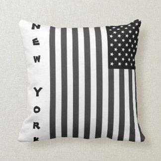 Coussin en polyester Drapeau USA NY