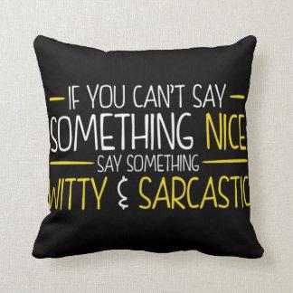 Coussin Esprit et sarcasme