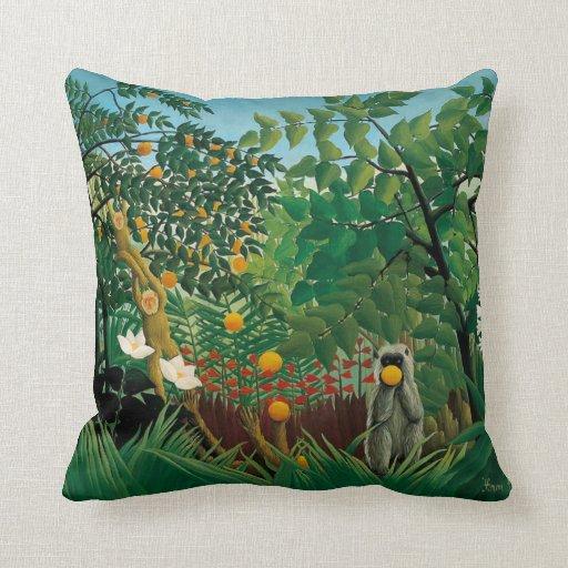 coussin exotique de paysage de henri rousseau zazzle. Black Bedroom Furniture Sets. Home Design Ideas