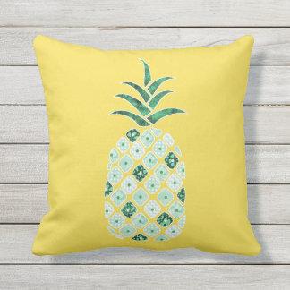 Coussin extérieur d'ananas vert