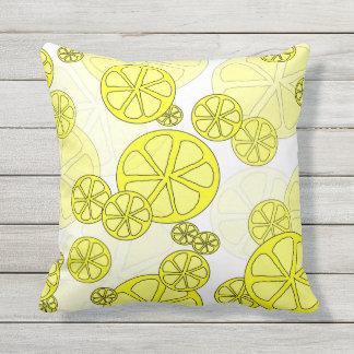 Coussin extérieur de citron succulent
