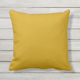 coussin extérieur de jaune de moutarde
