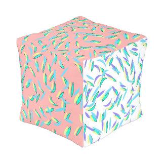 Coussin extérieur de motif en pastel abstrait