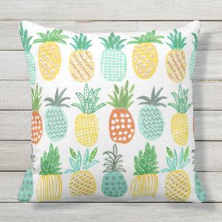 Coussin extérieur tropical de l'ananas |
