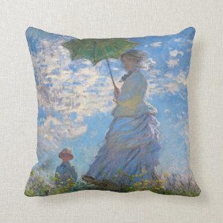 Coussin Femme avec un parasol par Claude Monet