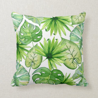 Coussin feuille tropical