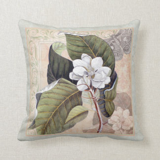Coussin Fleur du sud élégante de magnolia de belle