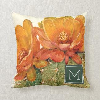 Coussin Fleurs d'orange de cactus