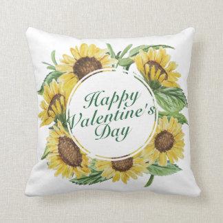 Coussin floral de cadre de Saint-Valentin de