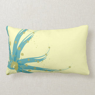 Coussin floral moderne Chartreuse jaune turquoise