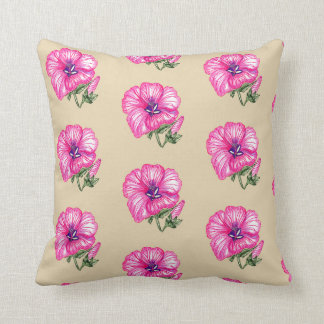 Coussin floral rose