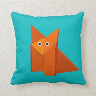 Coussin Fox mignon lumineux d'origami