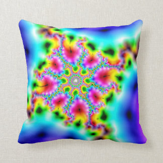 coussin fractale multicolore