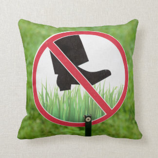 Coussin Gardez du signe d'herbe