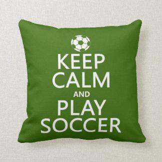 Coussin Gardez le football de calme et de jeu (toute