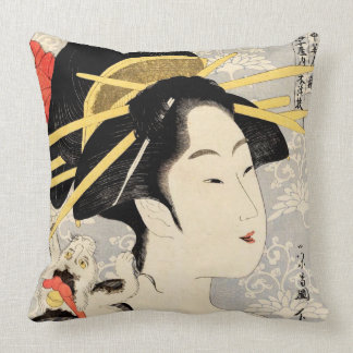 Coussin Geisha d'Ukiyo-e