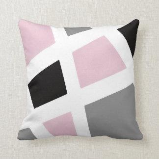 Coussin Géométrique blanc noir gris rose