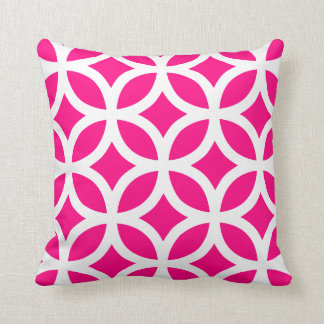 Coussin géométrique de motif dans les roses indien