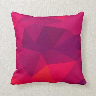 Coussin géométrique de motif de fractale rose