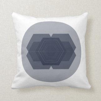 Coussin géométrique d'hexagone