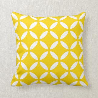 Coussin géométrique moderne en jaune de freesia