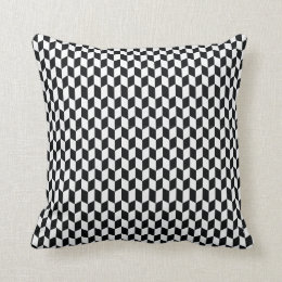 coussins motif noir et blanc graphique personnalis s. Black Bedroom Furniture Sets. Home Design Ideas