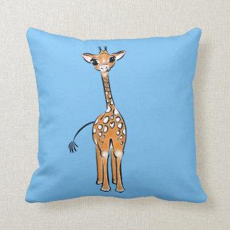 Coussin Girafe de bébé - bleu