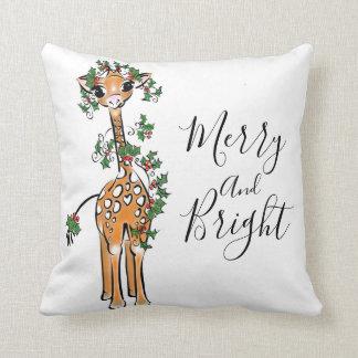 Coussin Girafe de bébé - guirlande joyeuse et lumineuse