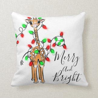 Coussin Girafe de bébé - joyeuse et lumineuse