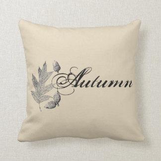 Coussin Glands d'automne et carreau de ferme de feuille