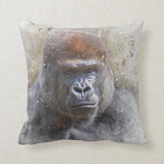 Coussin Gorille dans l'aquarelle moderne de photographie