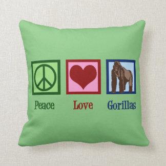 Coussin Gorilles d'amour de paix