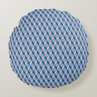 Coussin Graphique bleu rond