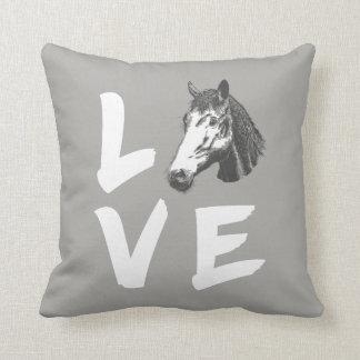 Coussin Graphique chevalin d'amants de cheval