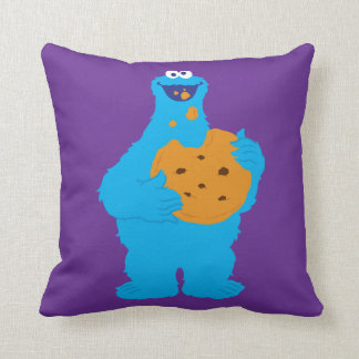 Coussin Graphique de monstre de biscuit