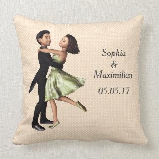 Coussin Graphique personnalisable de couples de danse
