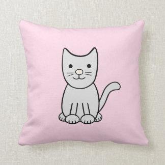 Coussin gris de chat de Kitty