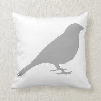 Coussin gris d'oiseau