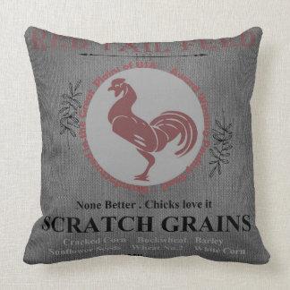Coussin Gris rouge de queue à céréales fourragères de sac