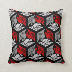 coussins noir gris rouge fonc s personnalis s. Black Bedroom Furniture Sets. Home Design Ideas