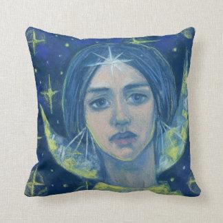 Coussin Hecate, déesse de lune, peinture en pastel, art