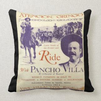 Coussin Héros de Mexicain du Général Pancho Villa