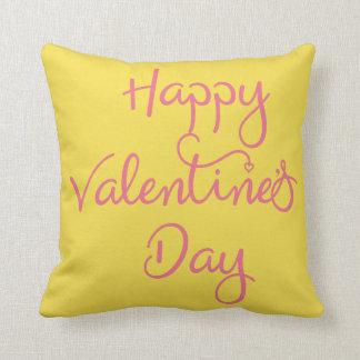Coussin heureux de jour de Valentines