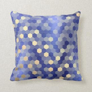 Coussin Hexagone bleu VIP1 de saphir de cobalt d'or jaune