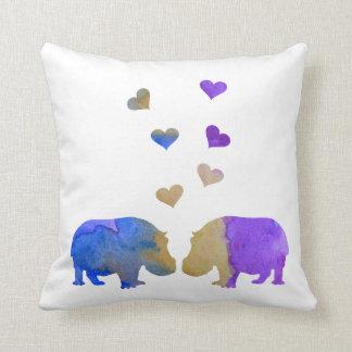 Coussin Hippopotames